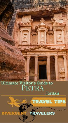 Ultimate Visitor's Guide to the Lost City of Petra Jordan. This Ultimate Visitor's Guide to the Lost City of Petra should give you everything you need to know to make your visit special. Click to read the full Adventure Travel Blog post at http://www.divergenttravelers.com/ultimate-visitors-guide-lost-city-of-petra/