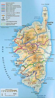 Corse - Entre mer et montagne - les sentiers de randonnée en Corse