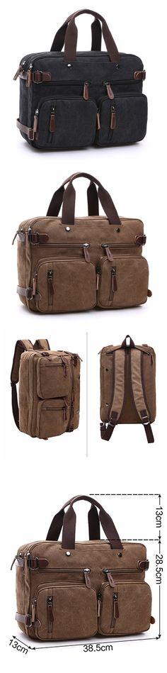 Multifountional Unisex Canvas Hand bag Shoulder bag Backpack for Men & Women Bagail.com
