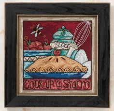 Mill Hill Cook Up a Storm - Beaded Cross Stitch Kit. Cook up a storm. Kit Includes: Mill Hill glass beads, 14 Ct. Perforated Paper or Painted Perforated Paper,