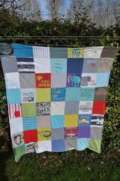 Manta de camisetas recicladas   Elenarte
