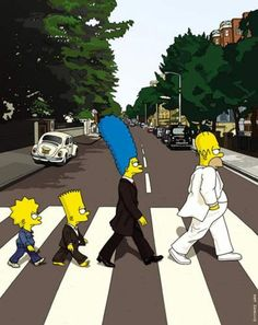 The Beatles. The Simpsons! Cute Disney Wallpaper, Cute Wallpaper Backgrounds, Funny Wallpapers, Cartoon Wallpaper, Simpsons Drawings, Simpsons Cartoon, Cute Cartoon, The Simpsons Tumblr, Simpson Tumblr