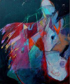 Abstract Horse Painting   Kerri Blackman   No Bridle SOLD