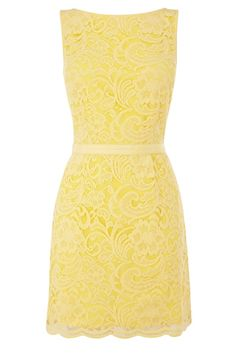 Yellow Lace Dress- I love this!!