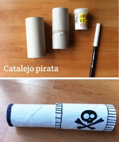 toilet paper roll pirate telescope craft for kids Pirate Day, Pirate Birthday, Pirate Theme, Pirate Activities, Craft Activities For Kids, Crafts To Do, Crafts For Kids, Pirate Crafts, Toilet Paper Roll Crafts