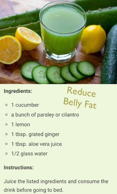 Drink recipe to reduce belly fat