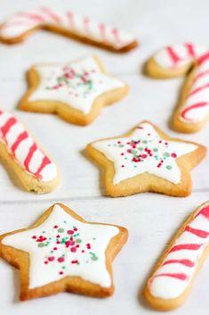 Biscuits de Noël étoiles et sucres d'orge