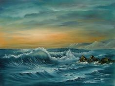 Original Seascape in OIls on 18 x 24 Canvas by BrushstrokesinOil, £180.00