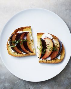 Four simple summer toast recipes, via Vogue: Charlie Bird's Stracciatella Toast with Pickled Beets, Bar Primi's Burrata Bruschetta with Anchovy, and The Smile's Plum Crostini