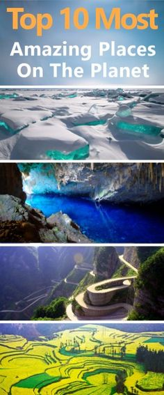 Top 10 Most Amazing Places On The Planet You Won't Believe Really Exist.