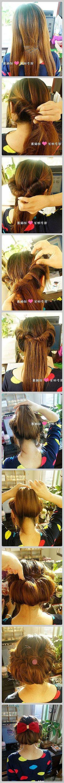 Peinado estilo vintage sencillísimo.