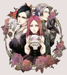 Uta, Itori, and Yomo - Tokyo Ghoul