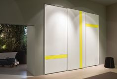 #NidiDesign Sliding Door Wardrobe Designs, Sliding Door Design, Closet Designs, Wooden Wardrobe Closet, Glass Wardrobe, Bedroom Cupboard Designs, Bedroom Closet Design, Almirah Designs, Dressing Table Design