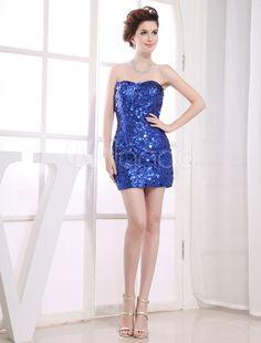 8e966683bc070 Short Cocktail Dress Sweatheart Sheath Sequined Prom Dress  Dress