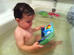 Reading in the Bathtub. Never too early.....