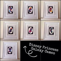 Full Set of Disney Princess Cameo Paintings