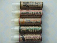 Lovely range of natural handmade lip balm with beeswax organic honey, almond oil £1.48