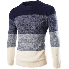 Pull Homme O Neck Long Sweater (2 Colors)