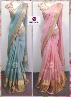 Simple Sarees, Trendy Sarees, Stylish Sarees, Fancy Sarees, Organza Saree, Chiffon Saree, Saree Dress, Floral Print Sarees, Saree Floral