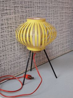 1961 Bodo Hennig yellow floor lamp | Flickr - Photo Sharing!