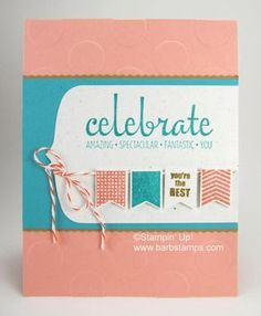 Party Pennants Birthday Card - Barbstamps!! Barb Mullikin Stampin' Up! Demonstrator