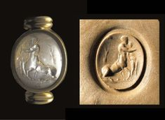 A ROMAN AMETHYST INTAGLIO OF CHEIRON AND ACHILLES 1ST CENTURY A.D.