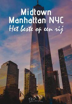 Ga je op stedentrip naar New York? Dan is Midtown Manhattan de perfecte wijk om te verblijven als je dicht bij de bekendste bezienswaardigheden van New York wilt zitten. Midtown is het winkel- en theatergebied van New York. In deze wijk vind je veel van de meest iconische gebouwen van New York. Wat je nog meer kunt zien en doen in Midtown Manhattan lees je onze blog! New York City Guide, Manhattan Nyc, Chrysler Building, Rockefeller Center, Plaza Hotel, Empire State Building, Skyscraper, Times Square, Chicago