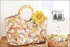 ❤ =^..^= ❤  Pink Caramel   Hexagonal Pinwheel Bag original pattern
