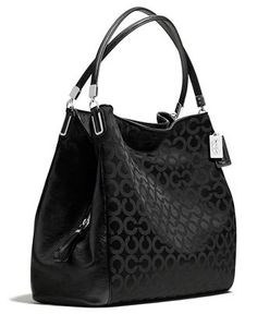 COACH MADISON PHOEBE SHOULDER BAG IN OP ART SATEEN FABRIC Handbags    Accessories - COACH - Macy s bc28a9cab46f3