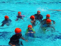 Non – swimmers you are lucky; you can never get hurt in swimming, swimmers you have obviously never seen a meet warm up. Life is like swimming pool, you dive into water but you can't see how deep it is.