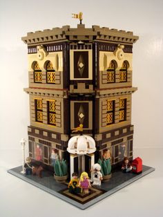 Corner MOC by dita svelte. Very nice.  A cross between the Grand Emporium and the Palace Cinema.  Beautiful color choices.