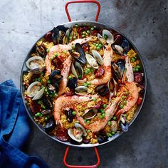 This Spanish seafood chorizo paella will satisfy a crowd. This recipe calls for Bomba rice, a short-grain Spanish rice, but any sort of paella rice will do.