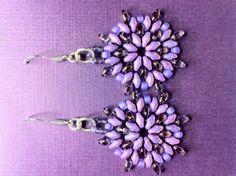 Purple Super Duo Earrings