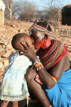 Love mother and child  has no color love different cultures