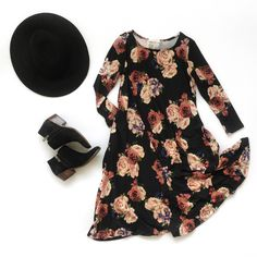 Falling for Floral Swing Dresses! Kailey Swing Dress from Pink Desert.