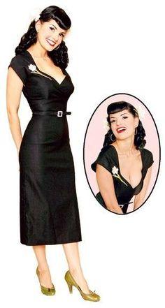 Vestidos pin-up: fotos modelos - Vestido pin-up negro corazón
