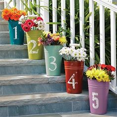 Love these - if only I could make my house # out of them, I'd use them on the front porch. Too bad it only goes up to 5!