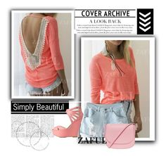 """""""http://www.zaful.com/scoop-neck-backless-lace-splicing-t-shirt-p_81793.html?lkid=2989  http://www.zaful.com/light-blue-denim-shorts-p_62159.html?lkid=2989"""" by goldenhour ❤ liked on Polyvore featuring moda, Charlotte Russe ve Mansur Gavriel"""