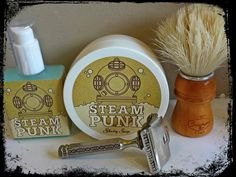 1001 Siefe Tabula Rasa Steam Punk, Semogue Owners Club Boar brush and a 1912 Patented Ever Ready Single Edge Razor finishing with Steam Punk aftershave gel.