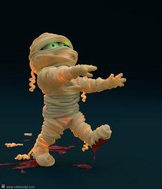 yummy mummy. get this 3d blend file on www.nitaravalji.com/goodies