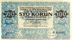 CzechoslovakiaP11-100Korun-1919-donatedvm_f Financial Markets, Fans, Money, Retro, Historia, Nostalgia, Silver, Retro Illustration