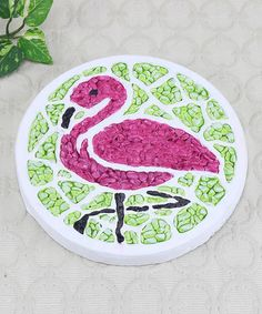 Another great find on #zulily! Pink Flamingo Stepping Stone #zulilyfinds