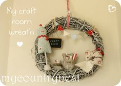 My country nest: My craft room wreath