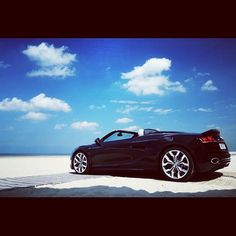 Convertible Audi R8 taking a break at the Beach!