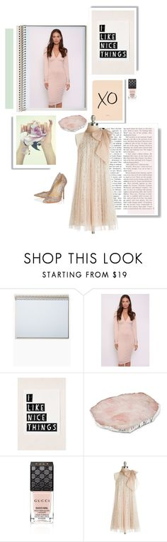 """""""Untitled #1067"""" by mercedesrenee ❤ liked on Polyvore featuring Postalco, Rare London, Gucci, Ryu, Jimmy Choo and modcloth"""