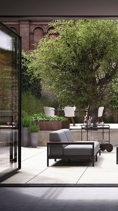See the beautiful garden solution that makes outdoor activities take place in different beautiful and well-organised spots. Back Gardens, Outdoor Gardens, Architecture Restaurant, Garden Architecture, Casa Patio, Small Garden Design, Modern Patio Design, Garden Living, Balcony Garden