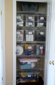 Coat Closet Turned into a Functional Organized Closet