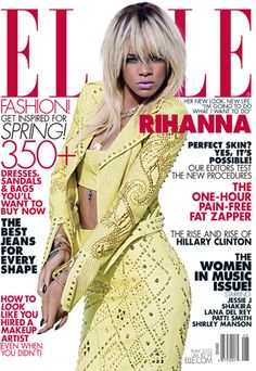 Rihanna on the cover of Elle magazine May 2012