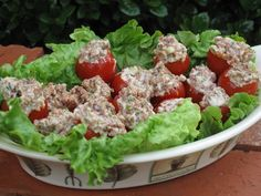 BLT Bites (Stuffed Cherry Tomatoes).  You can substitute the Parmesan. cheese for shredded cheddar cheese.