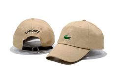 Mens / Womens Unisex Lacoste Crocodile Embroidery Logo Leather Strap Back Baseball Adjustable Hat - Sand Lacoste Store, Dark Blue Grey, Animal Print Outfits, Bomber Jacket Men, Knit Beanie, Snapback Hats, Unisex, Crocodile, Leather